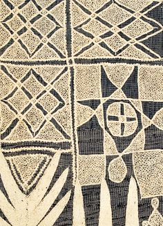 detail of early 20th century Nupe or Hausa embroidery on a men's gown  #Nupe #Hausa #embroidery