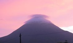 Sunset at Arenal Volcano.