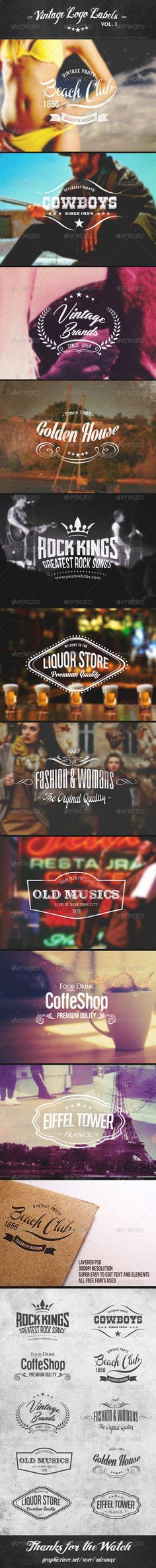 Vintage Logo Labels Vol.1