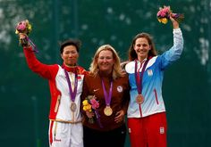 American Kimberly Rhode Takes Gold in Women's Skeet.  With her victory she became the first American athlete to win five medals in an individual event in five consecutive Olympic Games