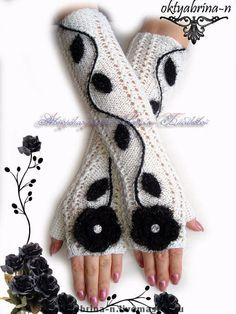 """Buy Mitts """"Duet"""" – author mittens, fashion accessory, gift for girlfriend, gift for woman Source by lynnunwin Knitted Mittens Pattern, Crochet Mittens, Crochet Gloves, Crochet Wool, Fingerless Mitts, Creation Couture, Wrist Warmers, Knitting Accessories, Pulls"""