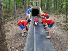 """120' slide made out of 36"""" corrugated culvert pipe."""