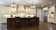 Title: Yorktown Maple | Brushed Brown Glaze|More kitchen remodeling ideas here: http://kitchendesigncolumbusohio.com/kitchen-ideas.html