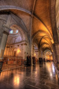 Valencia Cathedral, Spain. Really worth visiting. The architecture will definitely impress you and then climbing up to a cathedral tower will give you and opportunity to enjoy the beautiful sights of Valencia. The cathedral was started in a year 1262 which makes you wonder  what a history this cathedral carries.
