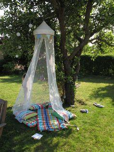 Fairy tent in garden