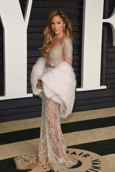 #JenniferLopez in #ZUHAIRMURAD at the Vanity Fair Oscars afterparty