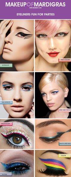 Mardi Gras Makeup: Eye Liners http://ads.tt/7j2nLA  www.meninait.com