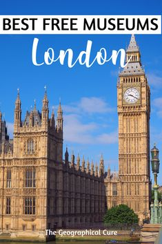 Here's my guide to 10 free must see museums in London England. These are amazing museums and must see sites in London. Put them on your London itinerary! London is literally overflowing with fantastic museums displaying world class art in every medium, from prehistoric to modern periods. You could spend a lifetime visiting them all. In a city as expensive as London, you can't beat free!   #London #ThingsToDoInLondon #England #MuseumsInLondon #ItinerariesForLondon #Tate