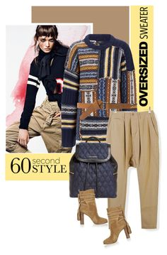 """""""60-Second Style: Oversized Sweater"""" by drn57 ❤ liked on Polyvore featuring Joseph, NLST, Vera Bradley, Michael Kors, MANGO and oversizedsweater"""
