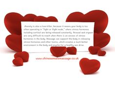Anxiety and massage Fight Or Flight, Cortisol, Anxiety, Massage, Stress, Chinese, London, Anxiety Awareness