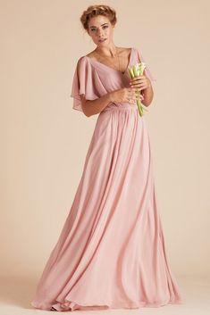d7297e60f6 Muggsy Dress - Dusty Rose  bridesmaids Romantic Bridesmaid Dresses