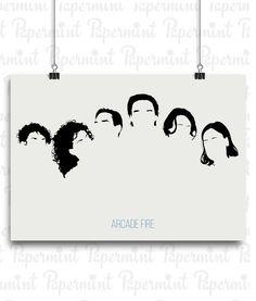 Póster de Arcade Fire. Lámina minimalista para enmarcar. Personalizable.