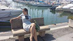 #Newoutfit- #Viareggio -New #dress #tezenis #angieclausblog  http://angieclausblog.com/2014/09/01/un-abito-sportivodei-sandali-una-borsa-particolare-alla-madonnina-sul-molo-di-viareggio/