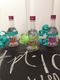 Perfect For An Adult Goodie Bag But I Made These As A Move In Gift The Girls Living My Apartment Monogrammed Mason Jar Shot Glass With Airplane
