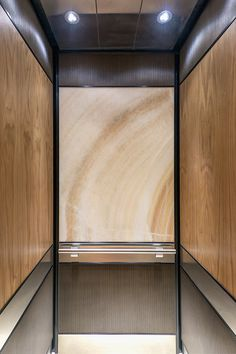 LEVELe-106 Elevator Interior with customized panel layout; Capture panels in…