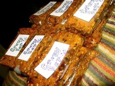 Sugar Free Granola Bars - Made with pumpkin or squash! Yes, they do not taste sugary, but they are better for you, and you can really appreciate the sweet dried fruit!