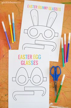 Fun free printable Easter glasses. Make some egg glasses or some bunny glasses! #freeprintable #Easter #kidsactivities