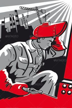 Soviet Welder  #GraphicRiver