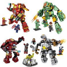 Super Heroes Hulk Buster Iron Man MARK 25 37 38 46 MK25 MK37 MK38 MK46 Figures Building Blocks Education Toys Christmas Gift #Affiliate