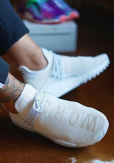 @_wh1tie_ has the perfect kicks already, and our invisible socks are perfect for the warmer days, too! #SNOCKS #socks #sneaker #Adidas #white #ultraboost #pwboost #inked #tattoo #lifestyle #fashion #streetstyle