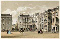 Het paleis op de Kneuterdijk. Ca. 1860. G.J. Bos.