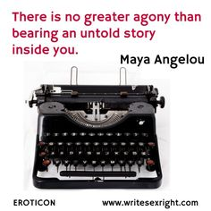 Monday Motivation - writing quote from Maya Angelou.
