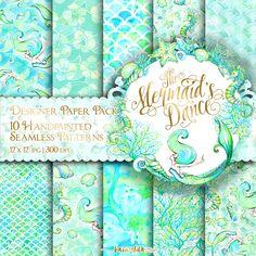 Mermaid Designer Paper 12X12