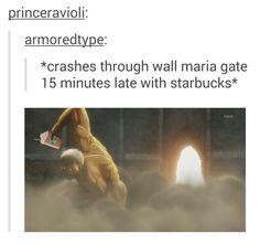 SNK Crashes through Wall Maria Gate