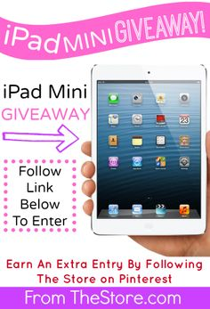 Win a Free iPad Mini each month with the first winner to be announced January 15th, 2014. Follow The Store on Pinterest for an extry entry each month. Enter Here: http://thestore.com/blog/ipad-giveaway