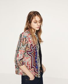 EMBROIDERED JACKET-View All-OUTERWEAR-WOMAN | ZARA United States