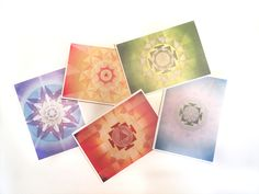Mandala Art Note Cards Set  http://www.holisticspaces.com/mandalas/mandala-art-cards-set