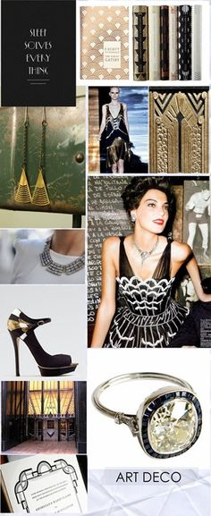 I love Art Deco... the earrings are wonderful!