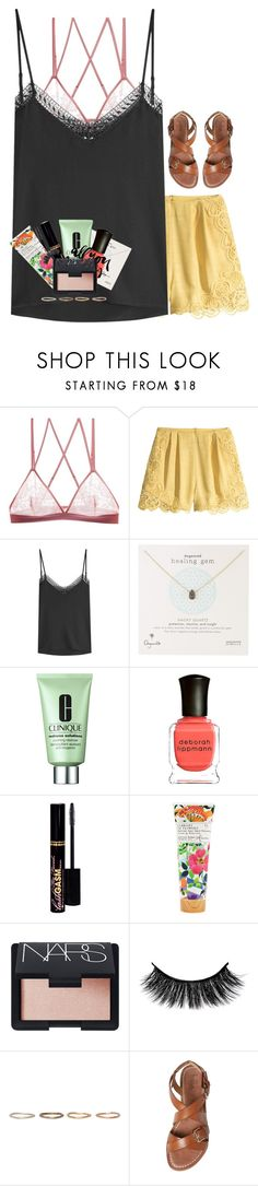 """Life ain't always beautiful•but it's a beautiful ride"" by livnewell ❤ liked on Polyvore featuring G-Love Lingerie, H&M, The Kooples, Dogeared, Clinique, Deborah Lippmann, Too Faced Cosmetics, Library of Flowers, NARS Cosmetics and Pearls Before Swine"