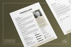 How To Easily Create A Professional Resume/CV. Resume/CV - Cover Letter Template Dawson by bilmaw creative on Cover Letter Template, Cv Cover Letter, Cv Template, Letter Templates, Resume Templates, Design Templates, Best Resume, Resume Cv, Resume Design