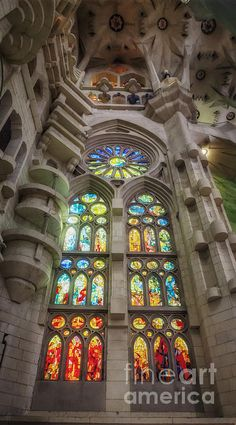 Sagrada Familia Window - Joan Carroll. To view or purchase prints, canvases, cards or phone cases visit joan-carroll.artistwebsites.com THANKS!