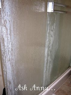 How to Clean Shower Door Soap Scum {Please Help Me!} - Ask Anna the comments are helpful