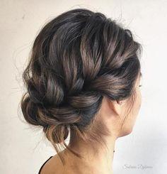 Lockere hochsteckfrisuren schulterlanges haar