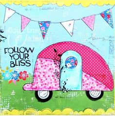 Gallery - Charm School with angela's images and Modern Charm Vintage Caravans, Vintage Travel Trailers, Vintage Campers, Airstream, Camping Signs, Camping Life, Rv Life, Homemade Curtains, Applique