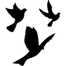 Resultado de imagen de silueta de pajaro volando