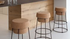 Bouchon-Sg Counter Stool by Domitalia modern-bar-stools-and-counter-stools Wine Cellar Design, Modern Bar Stools, Counter Stools, Chinese Style, Cork, Traditional, Interior, Jasper, Furniture