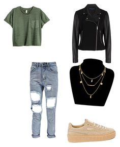 """""""casual"""" by moda-makeup ❤ liked on Polyvore featuring French Connection, Boohoo and Puma"""