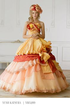 """Oh my... as if the words """"orange ball gown"""" weren't enough..."""