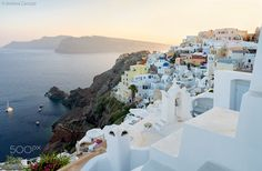 "The magic of santorini Go to http://iBoatCity.com and use code PINTEREST for free shipping on your first order! (Lower 48 USA Only). Sign up for our email newsletter to get your free guide: ""Boat Buyer's Guide for Beginners."""