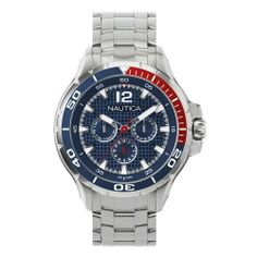 Nautica Men's N22616G NST 02 Classic Analog Watch NAUTICA. $137.88. Durable mineral crystal protects watch from scratches. Water-resistant to 100 M (330 feet). Quartz movement. Stainless steel case. Case diameter: 48