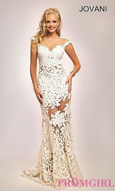 Long Sequin Embroidered Jovani Prom Dress at PromGirl.com
