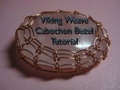 How to Make a Viking Knit Bezel for Cabochon Tutorial ~ The Beading Gem's Journal