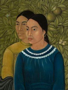 Frida Kahlo, Dos Mujeres: Salvadora y Herminia, 1928, oil on canvas.