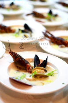 Soup : Crayfish , Clam , Scallop and Mussel En Blanc