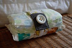 Diaper strap -- need to make one ASAP since I am not needing a full-on diaper bag