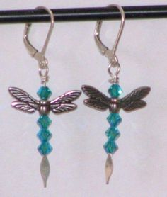 dragon fly earrings | Hand Crafted Dragonfly Or Angel Earrings With Swarovski Crystals by ...